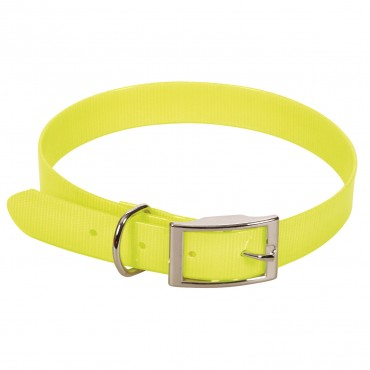 Collier en sangle PVC Fluorescent - Jaune