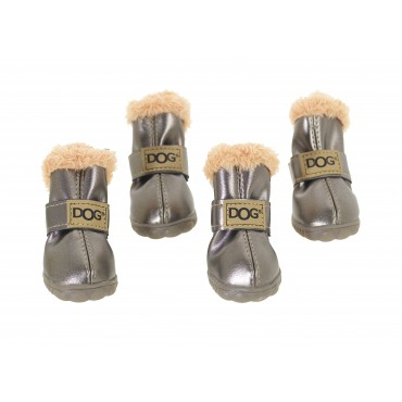 Chaussures de protection pour chien antidérapantes - Gris